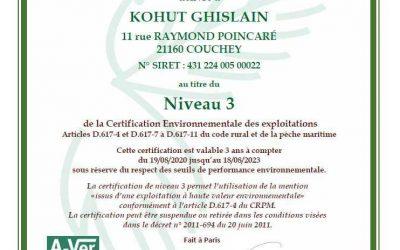 Certificat HVE niveau 3